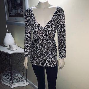 cable & gauge | Animal Print Long sleeves blouse